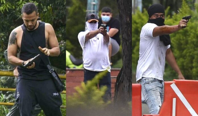 Pistoleros de Ciudad Jardín en Cali