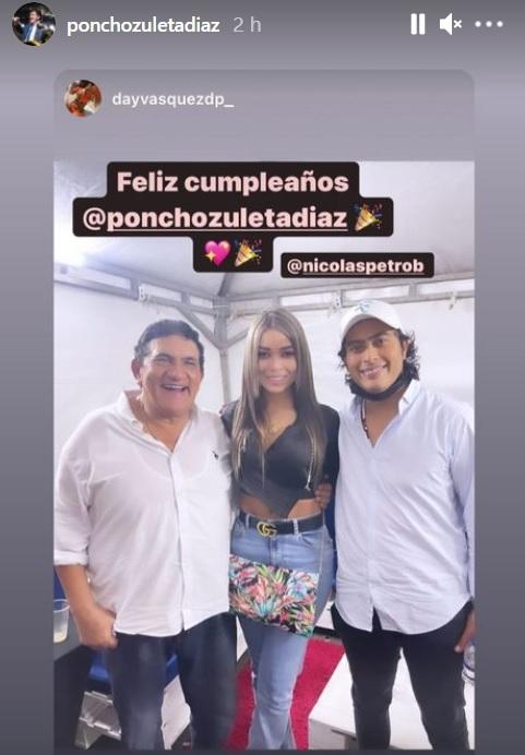 Poncho Zuleta con Nicolás Petro y Day Vásquez.