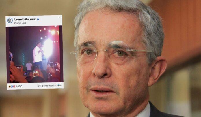 Uribe comparte foto de Petro