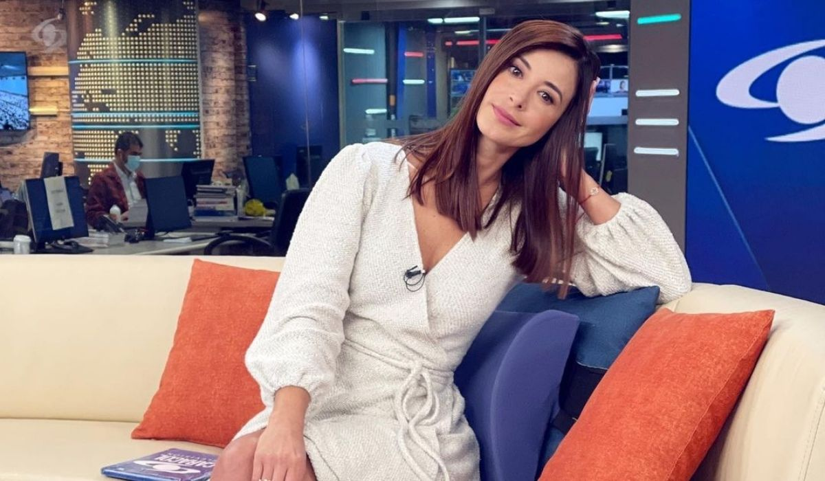 Alejandra Giraldo, presentadora de la primera emisión de Noticias Caracol