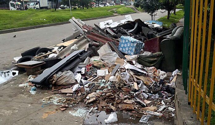 Basura en barrios de Bogotá