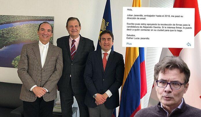 Exembajador involucrado en campaña de Alejandro Gaviria