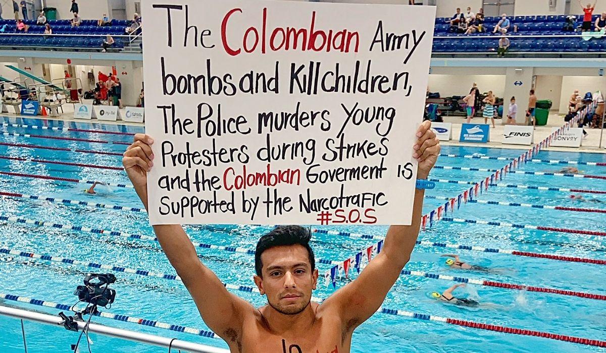 Jorge Iván protesta desde Estados Unidos