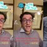 La celebración de Iván Cancino por libertad de Cadena